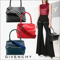 GIVENCHY PANDORA Casual Style 2WAY Plain Leather Shoulder Bags