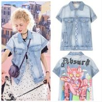 ELF SACK Casual Style Denim Street Style Other Animal Patterns Medium