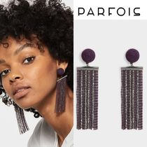 PARFOIS Party Style Fringes With Jewels Earrings & Piercings