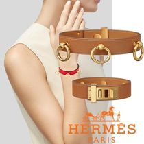 HERMES Bangles Casual Style Studded Leather Home Party Ideas
