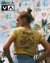 RVCA Cotton Short Sleeves T-Shirts
