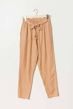 Casual Style Plain Long Oversized Baked Color Sarouel Pants