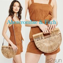 Abercrombie & Fitch Street Style 2WAY Plain Straw Bags