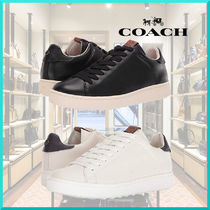 Coach Plain Leather Sneakers