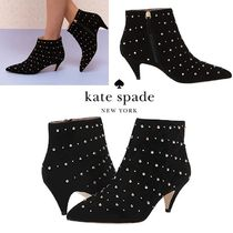 kate spade new york Casual Style Suede Studded Ankle & Booties Boots