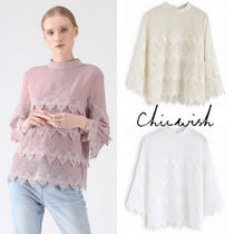 Chicwish Cropped Plain Elegant Style Shirts & Blouses