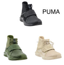 PUMA FENTY Round Toe Rubber Sole Casual Style Street Style
