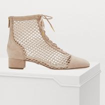 Christian Dior Rubber Sole Blended Fabrics Plain Ankle & Booties Boots