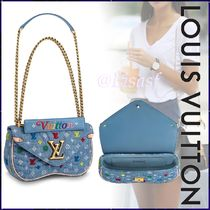 Louis Vuitton Blended Fabrics 2WAY Bi-color Chain Elegant Style