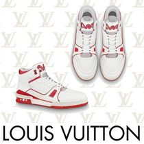 Louis Vuitton Street Style Bi-color Leather Sneakers