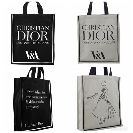 Casual Style Canvas Collaboration A4 Totes