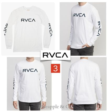RVCA Long Sleeve Crew Neck Unisex Street Style Long Sleeves Plain Cotton 5