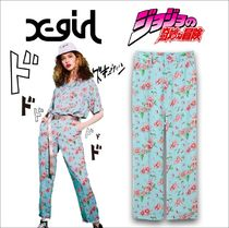 X-Large Flower Patterns Casual Style Nylon Street Style