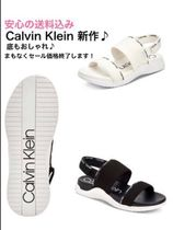 Calvin Klein Open Toe Pin Heels Elegant Style Heeled Sandals