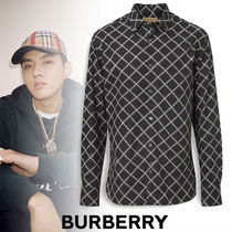 Burberry Street Style Long Sleeves Cotton Shirts
