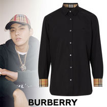 Burberry Street Style Long Sleeves Plain Cotton Shirts