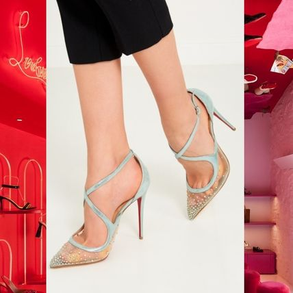 separation shoes cc87f ea20c Christian Louboutin Twistissima Plain Pin Heels Elegant Style Pointed Toe  Pumps & Mules