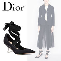 Christian Dior Star Elegant Style Wedge Pumps & Mules