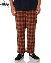 STUSSY Other Check Patterns Street Style Cropped Pants