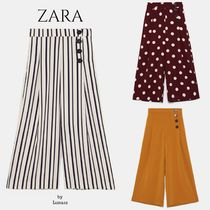 ZARA Stripes Dots Casual Style Long Cropped & Capris Pants
