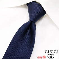 GUCCI Monogram Silk Plain Ties