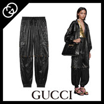 GUCCI Casual Style Faux Fur Plain Long