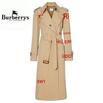 Burberry Long Elegant Style Coats