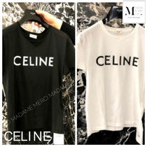 CELINE Crew Neck Cotton Short Sleeves Crew Neck T-Shirts