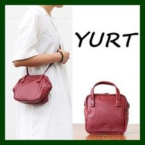 YURT Casual Style 2WAY Plain Leather Shoulder Bags