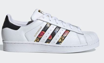 separation shoes b0310 10c16 adidas SUPERSTAR 2019 SS Flower Patterns Plain Toe Lace-up Street Style  Leather (EF1480)