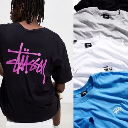 STUSSY Crew Neck Crew Neck Street Style Short Sleeves Crew Neck T-Shirts