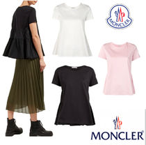 MONCLER Crew Neck Plain Cotton Medium Short Sleeves
