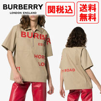 Burberry Unisex Street Style Cotton Shirts