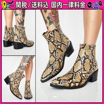 DOLLS KILL Casual Style Python Ankle & Booties Boots
