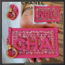 CHANEL ICON Blended Fabrics Bi-color Chain PVC Clothing