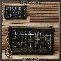 CHANEL ICON Unisex Blended Fabrics Bi-color Chain PVC Clothing
