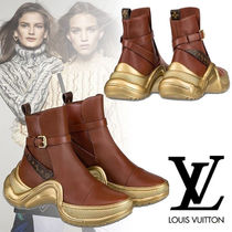 Louis Vuitton Monogram Rubber Sole Blended Fabrics Bi-color Leather