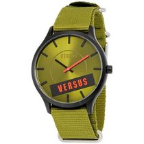 VERSACE Casual Style Unisex Leather Quartz Watches Analog Watches