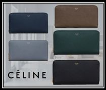 CELINE Zipped Plain Long Wallets
