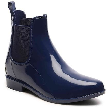 Ralph Lauren Rubber Sole Plain PVC Clothing Flat Boots