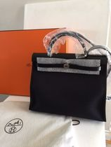 HERMES Casual Style Unisex Street Style 2WAY Plain Leather Handbags