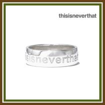 thisisneverthat Street Style Rings