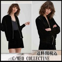 Cameo the Label Short Casual Style Velvet Street Style Plain Jackets