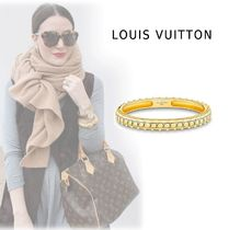 Louis Vuitton GOLD BRACELET WITH LV LOGO gold S,M bracelet