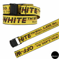 Off-White Casual Style Unisex Street Style Bi-color Belts