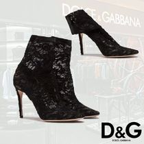 Dolce & Gabbana Pin Heels Party Style High Heel Boots