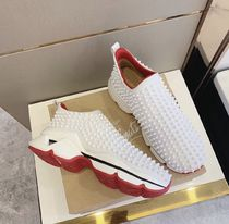 Christian Louboutin Unisex Studded Loafers & Slip-ons