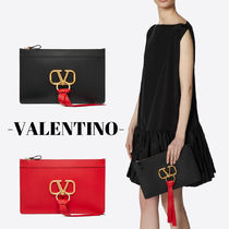 VALENTINO Casual Style Unisex Street Style Leather Home Party Ideas