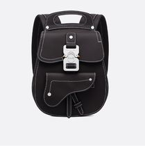 Christian Dior Calfskin 2WAY Plain Backpacks