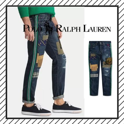 POLO RALPH LAUREN More Jeans Printed Pants Street Style Cotton Logo Jeans